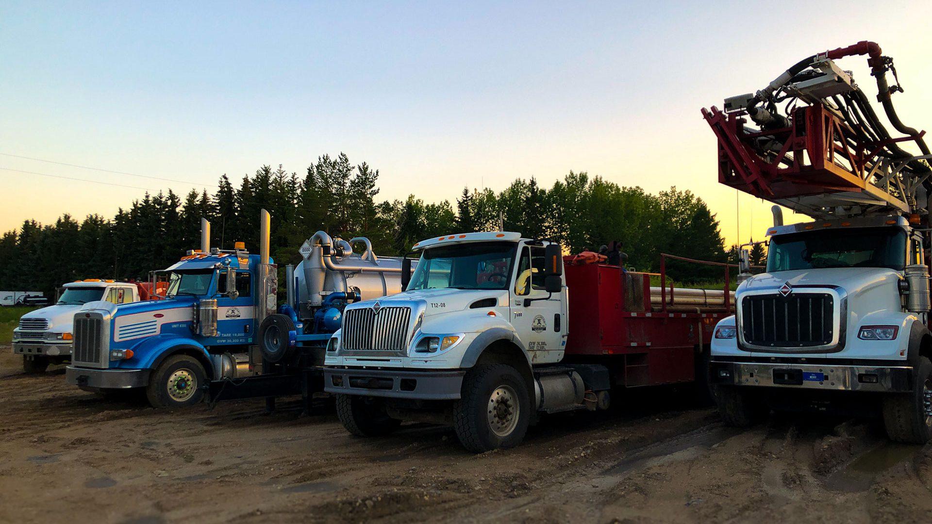 McAllister Drilling Trucks