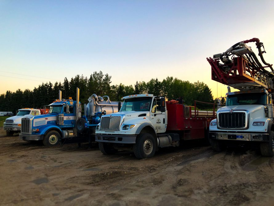 McAllister Drilling Trucks
